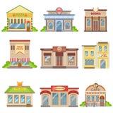 Sistema exterior del diseño de los edificios comerciales de etiquetas engomadas Fotografía de archivo libre de regalías