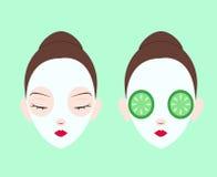 Sistema facial de la máscara Imagen de archivo libre de regalías