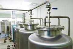 Sistema farmacêutico do tratamento da água Fotografia de Stock