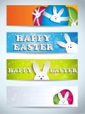 Sistema feliz del conejito del conejo de Pascua de banderas