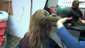 Sistema feliz del pelo de la mujer metrajes