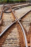 Sistema ferroviario Fotografia Stock