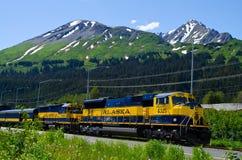 Sistema ferroviario de Alaska Imagen de archivo libre de regalías