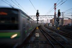 Sistema ferroviario del Giappone per mezzi di trasporto di massa Immagini Stock Libere da Diritti
