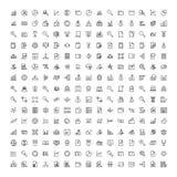 Sistema financiero del icono stock de ilustración