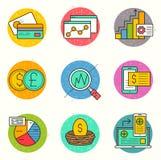 Sistema financiero del icono del negocio Fotografía de archivo libre de regalías