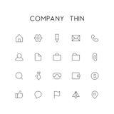 Sistema fino del icono de la compañía ilustración del vector