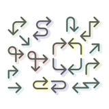 Sistema fino simple de las flechas - flechas, línea iconos del arte libre illustration