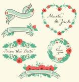 Sistema floral del gráfico Fotos de archivo libres de regalías