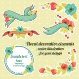 Sistema floral del gráfico Imágenes de archivo libres de regalías
