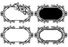 Sistema floral del marco Imagen de archivo libre de regalías
