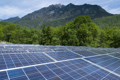 Sistema fotovoltaico Fotografia Stock