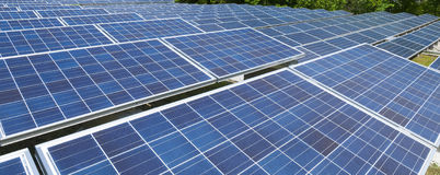 Sistema fotovoltaico Fotografia Stock Libera da Diritti