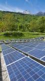Sistema fotovoltaico en Italia Imagenes de archivo