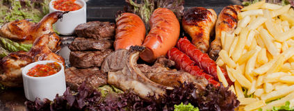 Sistema frío y caliente de la carne Fotografía de archivo