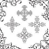 Sistema fresco de la esquina de la bella arte ilustración del vector