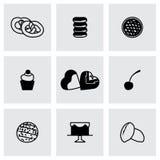 Sistema fresco del icono de la panadería del vector Fotografía de archivo