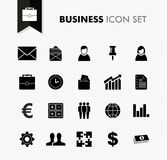 Sistema fresco del icono del trabajo del negocio. Imagenes de archivo