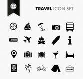 Sistema fresco del icono del viaje. Foto de archivo