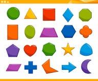 Sistema geométrico básico educativo de las formas stock de ilustración