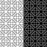 Sistema geométrico blanco y negro de modelos inconsútiles Fotografía de archivo