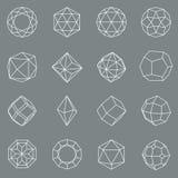 Sistema geométrico cristalino del vector de las formas de la gema libre illustration