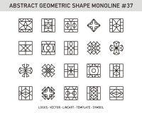 Sistema geométrico de la forma Imágenes de archivo libres de regalías