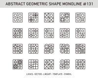 Sistema geométrico de la forma Foto de archivo libre de regalías