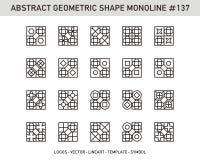 Sistema geométrico de la forma Imagenes de archivo