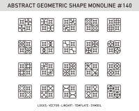 Sistema geométrico de la forma Fotos de archivo