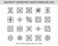 Sistema geométrico de la forma del elemento Fotos de archivo libres de regalías