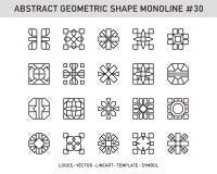 Sistema geométrico de la forma del elemento Fotografía de archivo libre de regalías