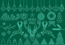 Sistema geométrico de la Navidad, vector libre illustration