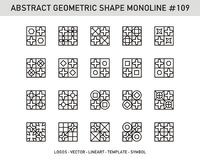 Sistema geométrico del extracto Fotografía de archivo libre de regalías