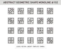 Sistema geométrico del extracto Imagen de archivo libre de regalías
