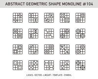 Sistema geométrico del extracto Imágenes de archivo libres de regalías
