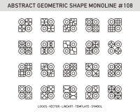 Sistema geométrico del extracto Foto de archivo libre de regalías
