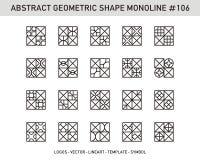 Sistema geométrico del extracto Fotos de archivo libres de regalías