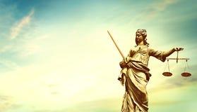 Sistema giudiziario morale di signora Justice fotografia stock