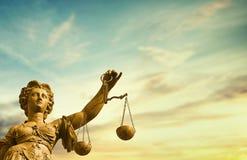 Sistema giudiziario morale di signora Justice fotografie stock libere da diritti