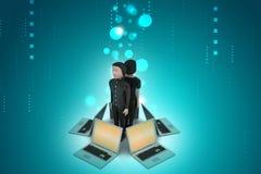 Sistema global del establecimiento de una red Imagen de archivo libre de regalías
