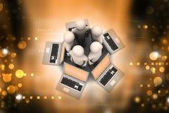 Sistema global del establecimiento de una red Fotografía de archivo libre de regalías