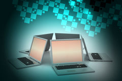 Sistema global del establecimiento de una red Imagen de archivo