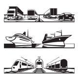 Sistema global del transporte Imagen de archivo libre de regalías