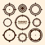 Sistema gráfico del gráfico de vector del icono de la blanco del retículo Imagenes de archivo