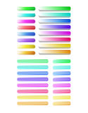 Sistema grande de botones coloridos semitransparentes Foto de archivo