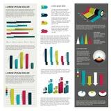 Sistema grande de cartas infographic Fotografía de archivo