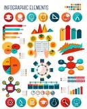 Sistema grande de elementos del infographics de la educación Fotografía de archivo libre de regalías