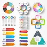 Sistema grande de elementos del infographics EPS10 ilustración del vector