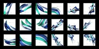 Sistema grande de fondos abstractos Imagen de archivo libre de regalías